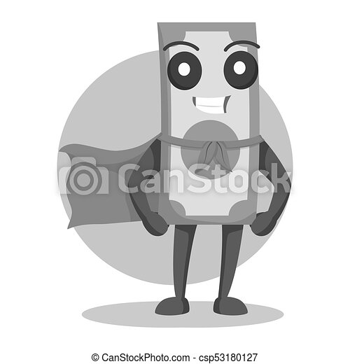 Money character with cape - csp53180127