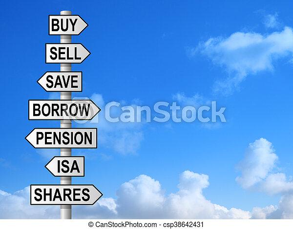 Money Choices Signpost - csp38642431