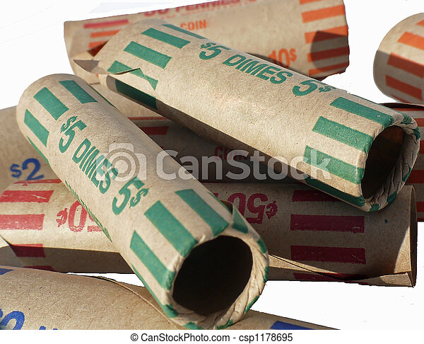 Money Coin Rolls Bank Money Rolls For Us Coins