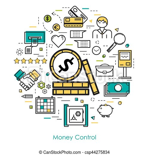 Money Control - Line Art - csp44275834