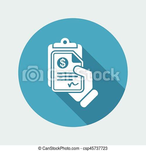 Money document icon - csp45737723