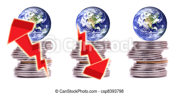 Money, finance and economy of the world - csp8393798
