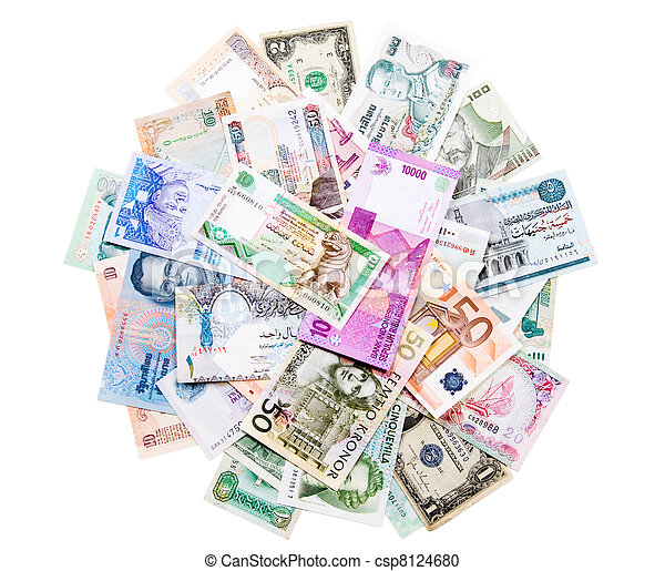 Money from around the world - csp8124680