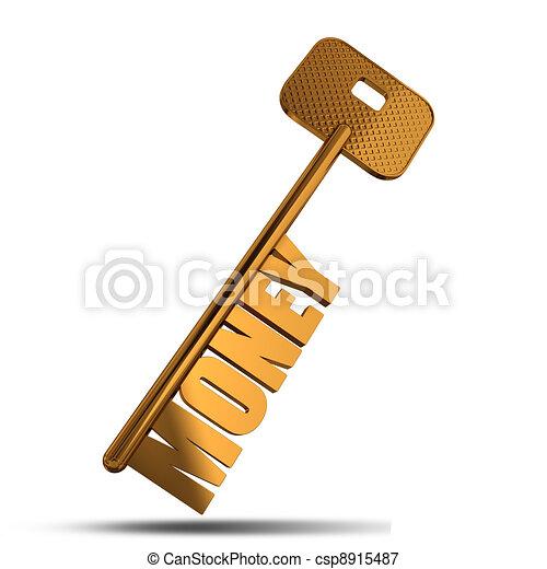 Money gold key - csp8915487