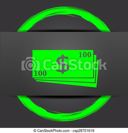 Money icon - csp28701619