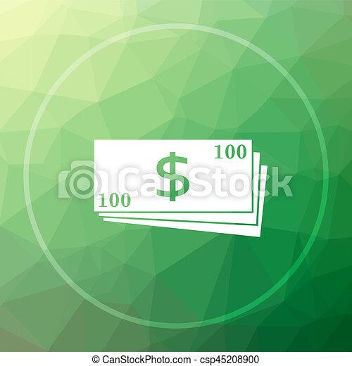 Money icon - csp45208900