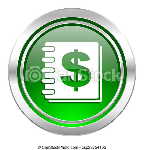 money icon, green button - csp23754165