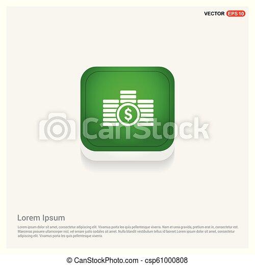 money icon Green Web Button - csp61000808