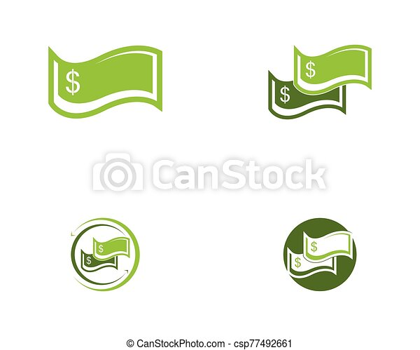 Money icon logo vector illustration - csp77492661