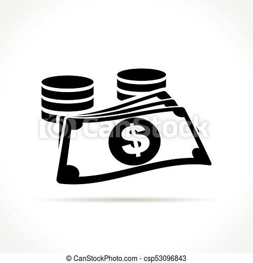 money icon on white background - csp53096843