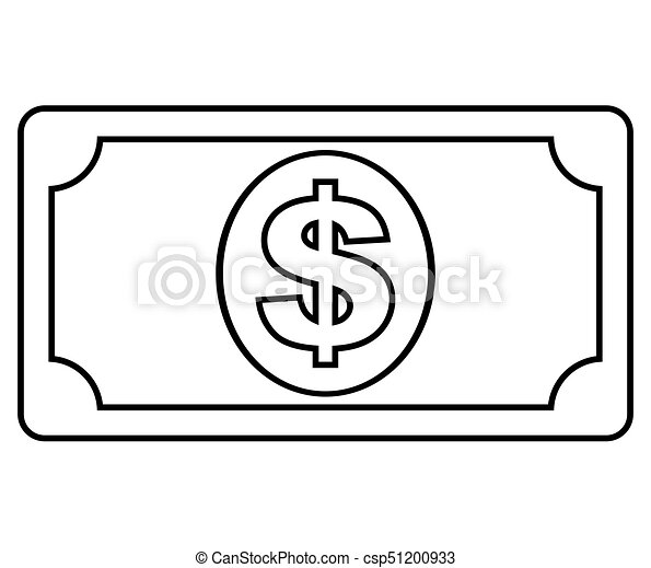 money icon on white background - csp51200933