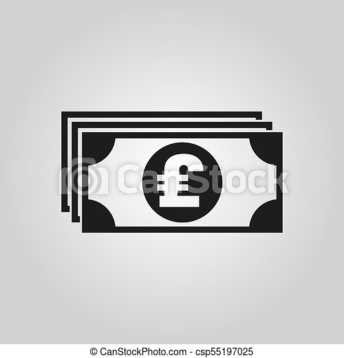 Money Icon Pound Sterling And Cash Coin Currency Bank Symbol