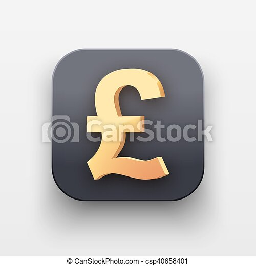 Money Icon Symbol Of Gold Pound Money Luxury Icon Currency Symbol
