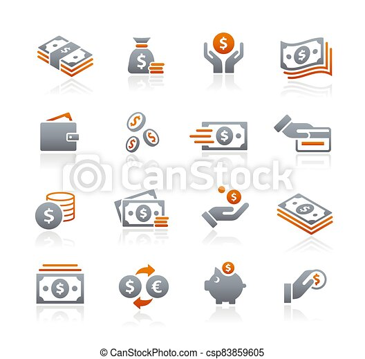 Money Icons // Graphite Series - csp83859605