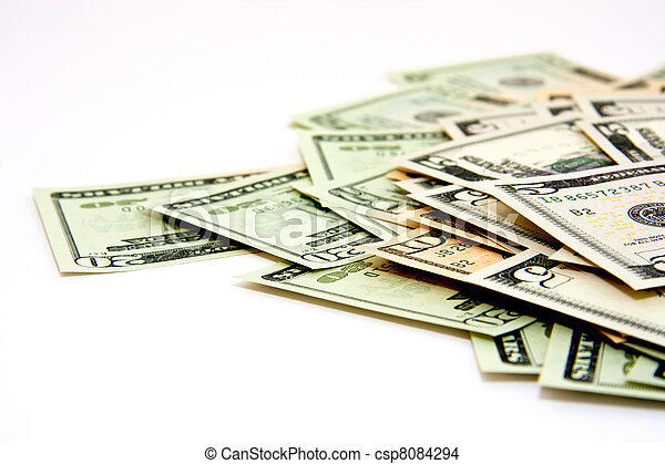 Money in a closeup - csp8084294
