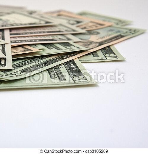 Money in a closeup - csp8105209