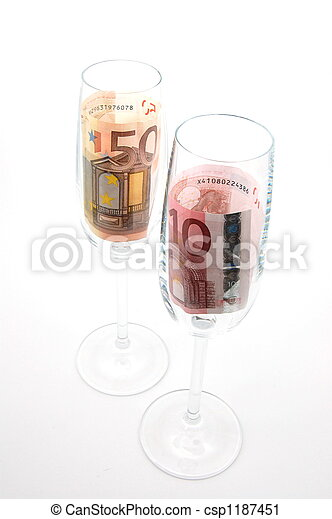 money in glass - csp1187451