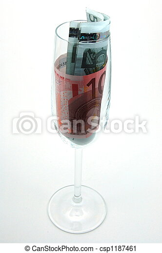 money in glass - csp1187461