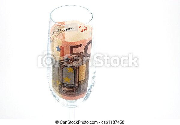 money in glass - csp1187458