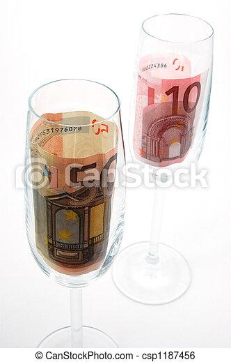 money in glass - csp1187456