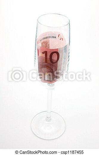 money in glass - csp1187455