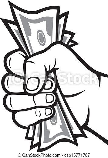 Money in the hand - csp15771787