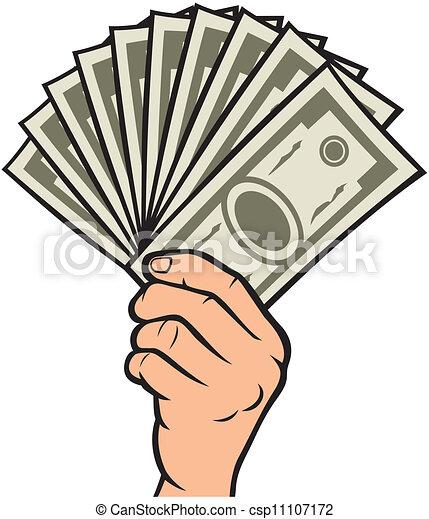 Money in the hand - csp11107172