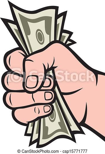 Money in the hand  - csp15771777