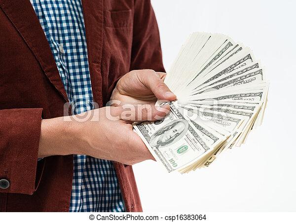 Money in the hands - csp16383064