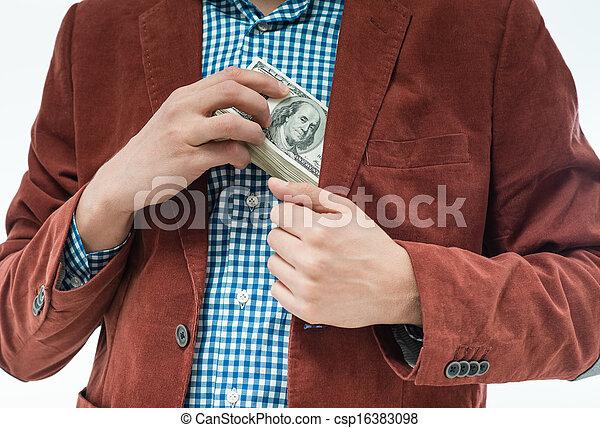 Money in the hands - csp16383098
