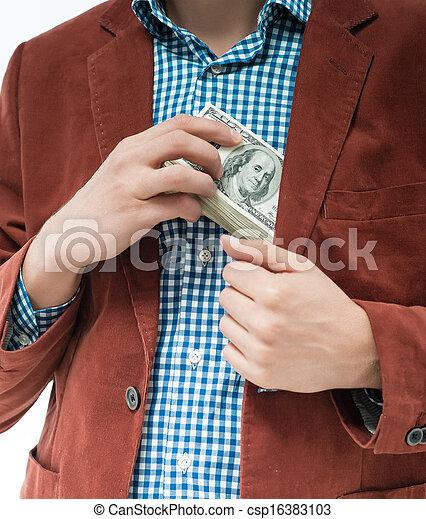 Money in the hands - csp16383103