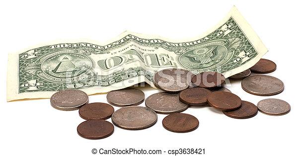 Money isolated on white background - csp3638421