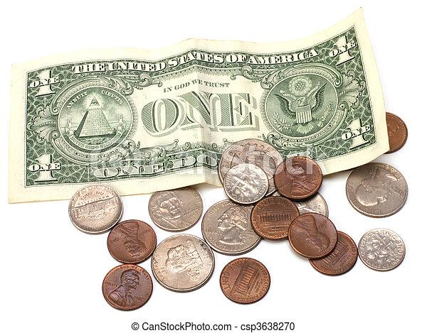 Money isolated on white background - csp3638270
