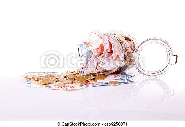 Money jar - csp9250371