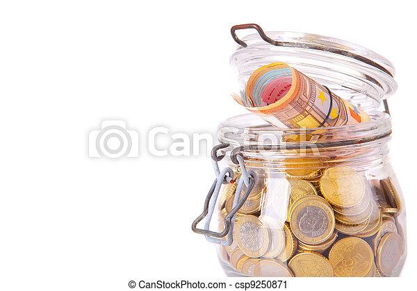 Money jar - csp9250871