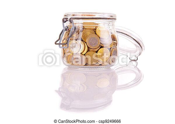 Money jar - csp9249666