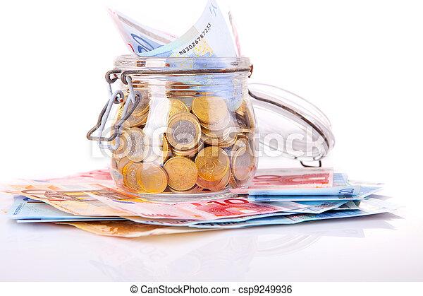 Money jar - csp9249936