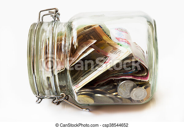 Money jar - csp38544652