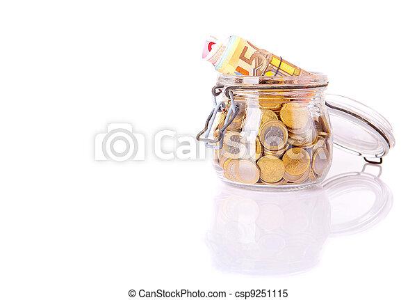 Money jar - csp9251115