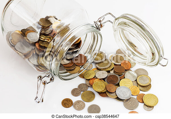 Money jar - csp38544647