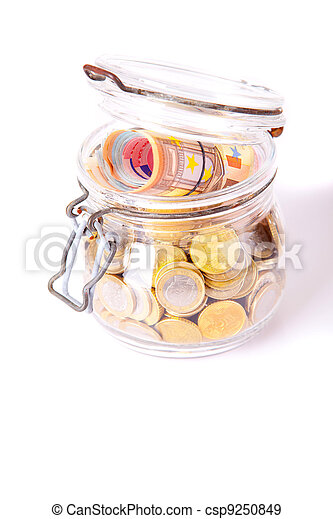 Money jar - csp9250849