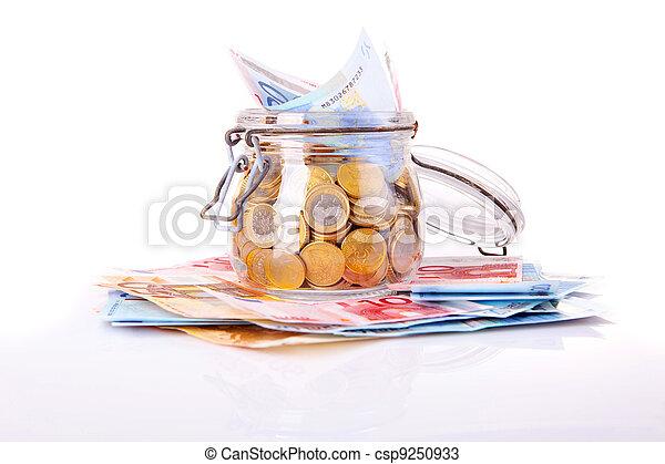 Money jar - csp9250933