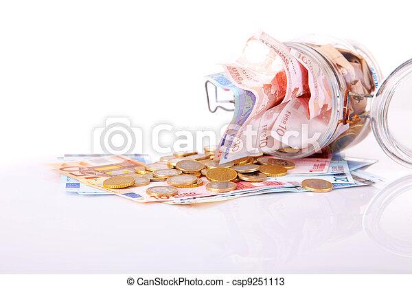Money jar - csp9251113
