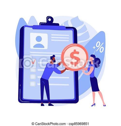 Money lending abstract concept vector illustration. - csp85969851