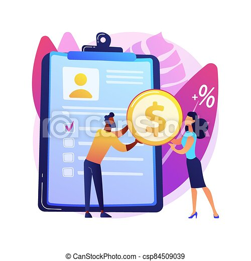 Money lending abstract concept vector illustration. - csp84509039