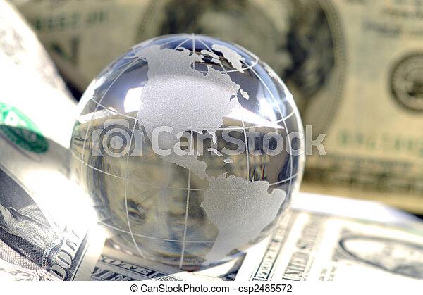 Money makes the world go round - csp2485572
