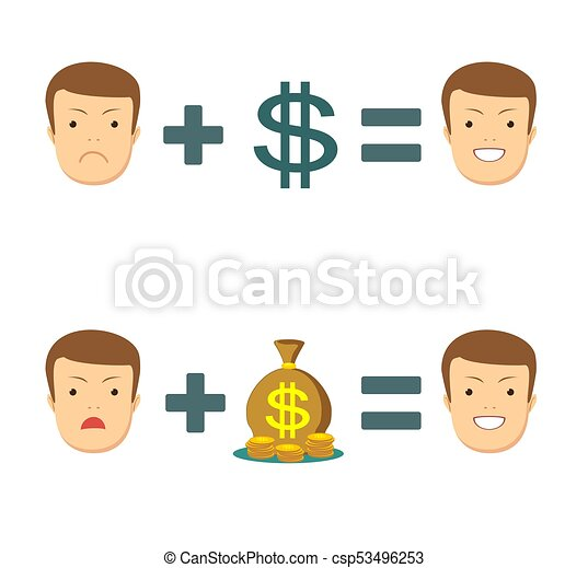 money makes you smile stock vector illustration for poster
