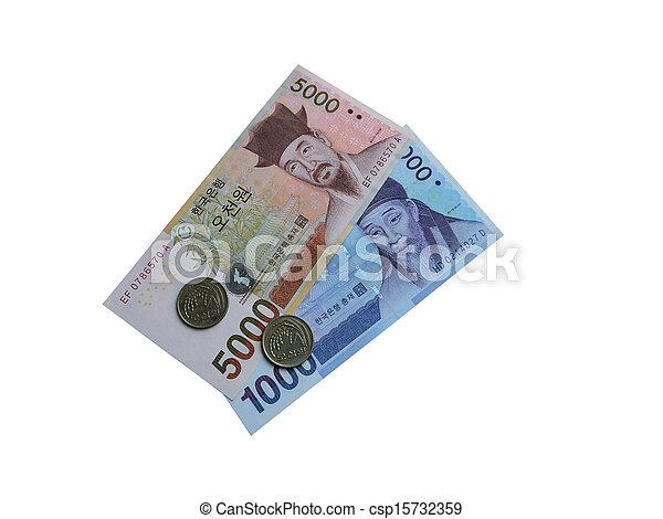 Money of the Republic of Korea - csp15732359