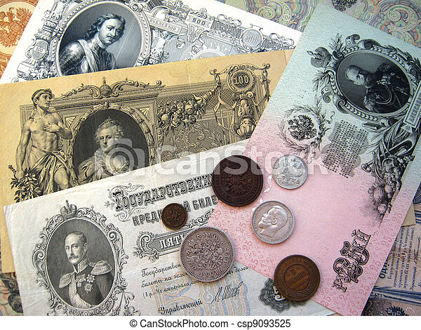 Money of the Russian Empire - csp9093525