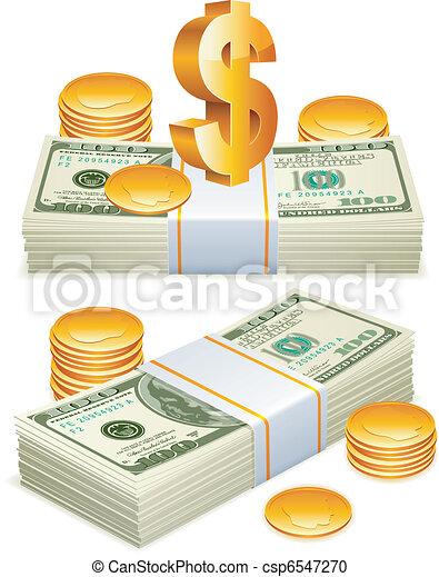 Money packs. - csp6547270